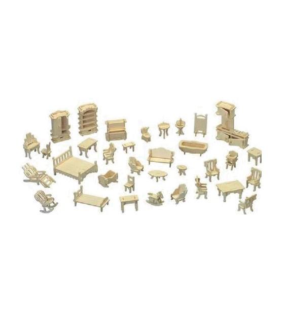 3D puzzle - nábytok 1