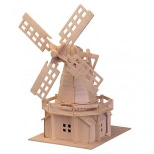 3D puzzle - budovy  VETERNÝ MLYN