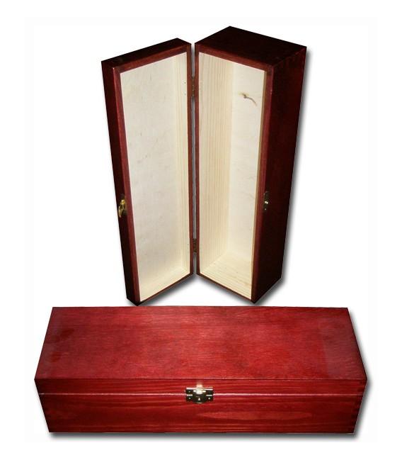 Krabička na 1 víno - mahagónová