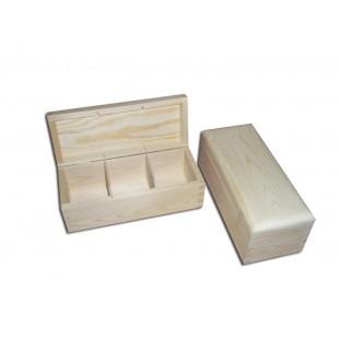 Krabička na čaj - 3 priehradková