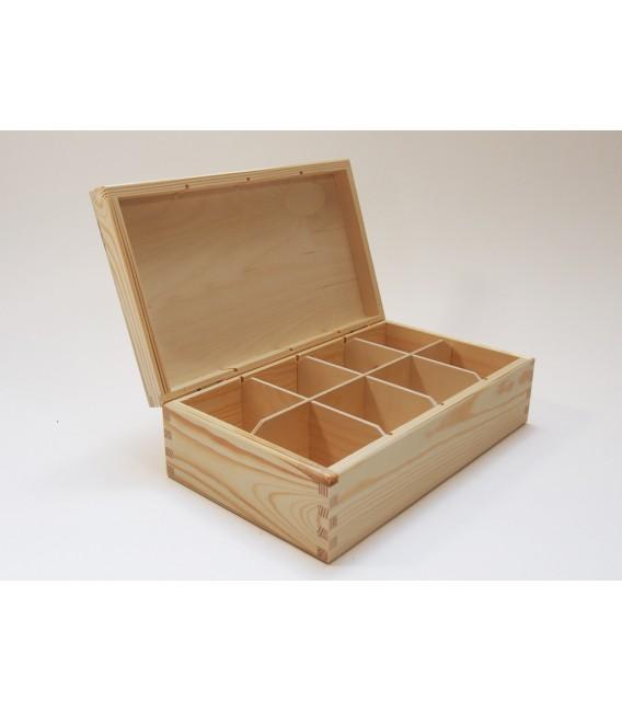 Krabička na čaj - 8 priehradková