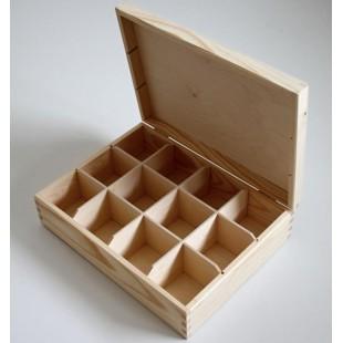 Krabička na čaj - 12 priehradková