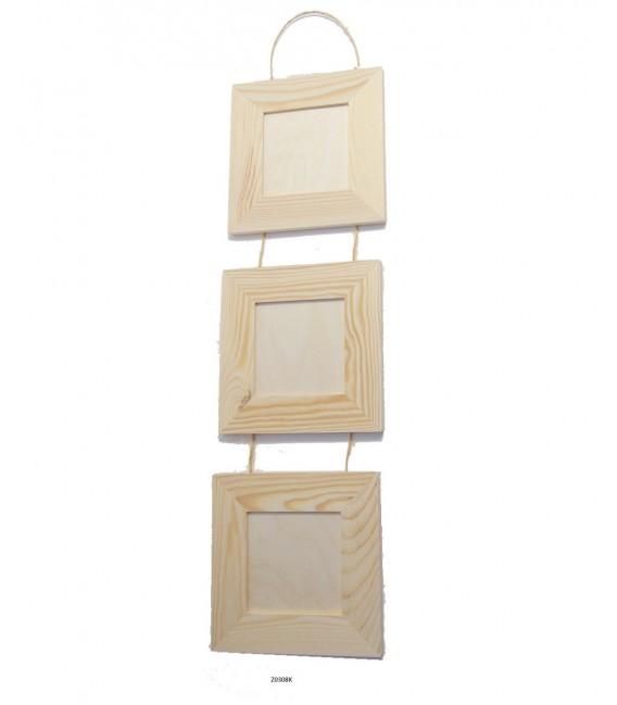 Foto rámik - set 3 rámikov na šnúrke