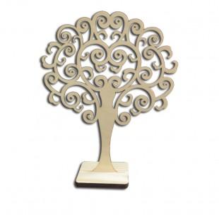 Stromček na náušnice - hustejšie