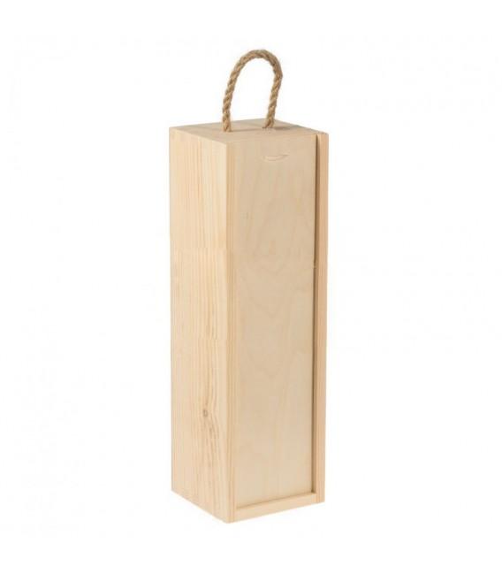 Krabička na 1 víno so snúrkou - stojatá