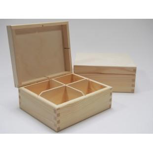 Krabička na čaj - 4 priehradková