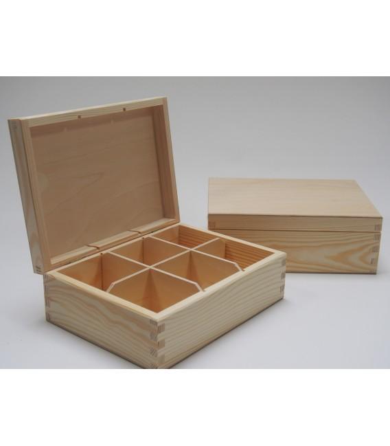 Krabička na čaj - 6 priehradková