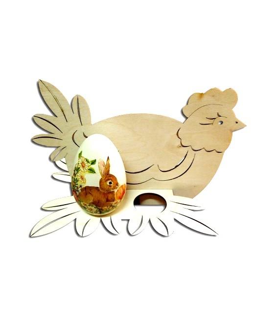 Podstavec na 4 vajíčka - kura