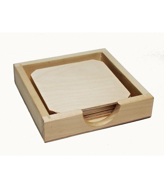 Set drevených podšálok (6ks) - nízky