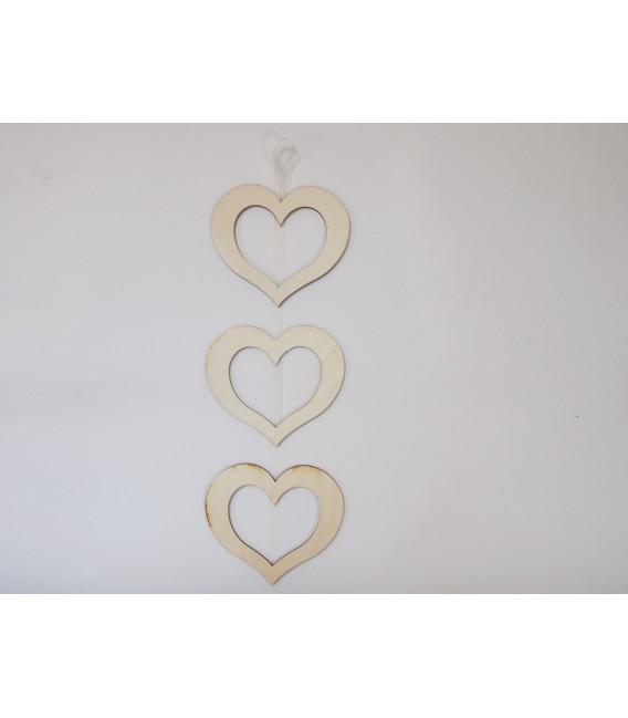 Set 3 srdcových rámikov