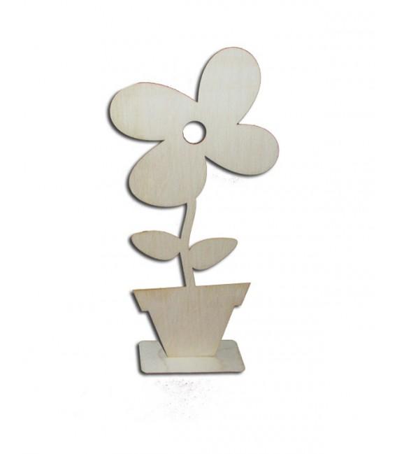 Kvet v kvetináči na podstavci veľký
