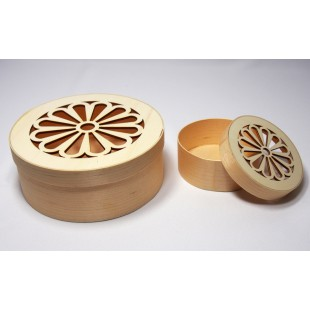 Krabička tenká - okrúhla malá ozdobná