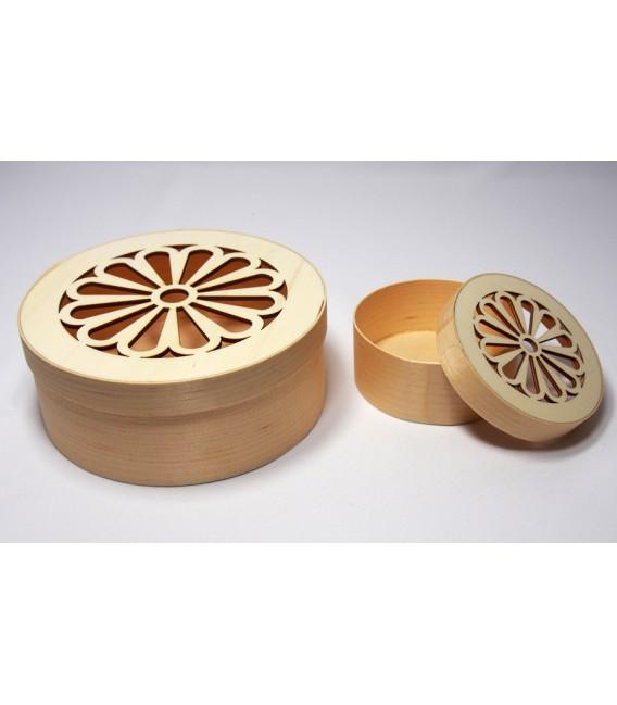 Krabička tenká - okrúhla veľká ozdobná