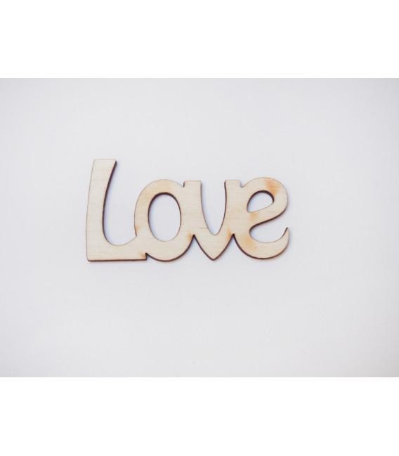 Drevený výrez - Love