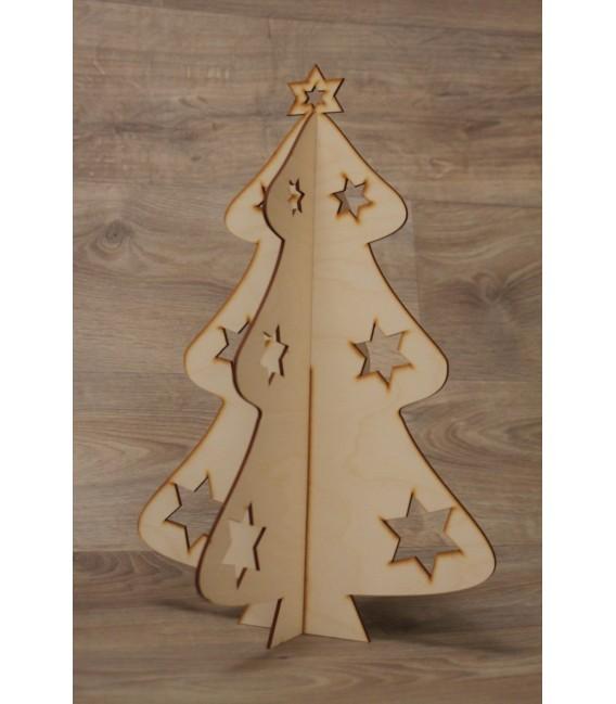 Stojaca ozdoba - Vianočný stromček - stredný