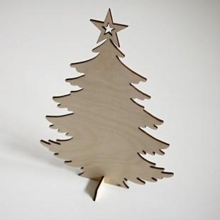 Stojaca ozdoba - vianočný stromček s hviezdou
